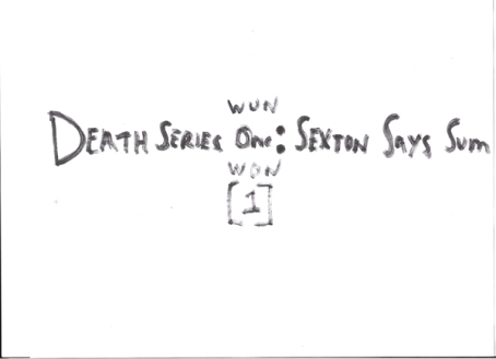 """""""DEATH SERIES ONE : SEXTON SAYS SOME"""" LILAC CO (NYC) SPRING 2007 155 MILTON STREET GREENPOINT, BROOKLYN EVANGELICAL LUTHERAN CHURCH BASEMENT"""