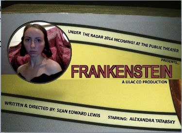 """Frankenstein"" Under The Radar Festival, The Public Theater, January 2014 (Poster Art by Robert Strong)"